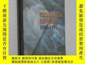 二手書博民逛書店city罕見university of hong kong RESEARCH REPORT 1994-1995