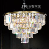 [吉客家居] 吊燈 圓輕奢五層水晶 金屬水晶造型時尚後現代工業餐廳民宿咖啡館居家飯店D