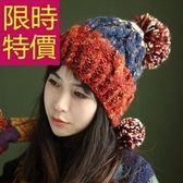 毛帽-韓版護耳保暖針織毛線帽子3色62e7[巴黎精品]