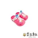 【樂樂童鞋】巴布豆卡通圖案布希鞋-玫紅 C061 - 現貨 涼鞋 男童鞋 女童鞋 兒童涼鞋 布希鞋 園丁鞋