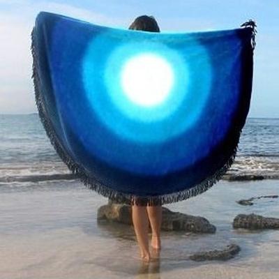 防曬披肩-流蘇清新星空圖案多用途戶外沙灘巾73mu19【時尚巴黎】