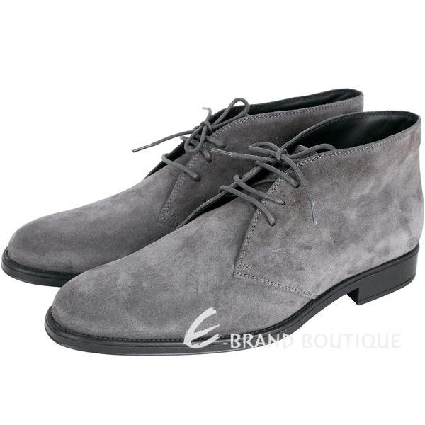 TOD'S Desert 麂皮綁帶休閒踝靴(男鞋/灰色) 1720192-06