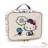 日本限定 Kitty 旅行空姐版 收納袋(S)