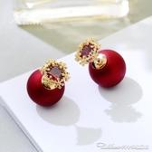 適合冬天的耳釘新款潮年味耳環網紅女氣質紅色過年耳飾耳墜 阿卡娜