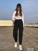束腳工裝褲女寬鬆BF秋季新款帥氣INS潮顯瘦高腰小個子運動褲 伊莎公主