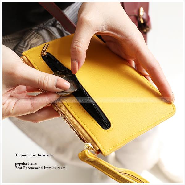 零錢包-信封口袋造型手拿零錢收納袋-共6色-A09090201-天藍小舖