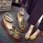 娃娃鞋新款日系復古圓頭學院風搭扣松糕底鞋小清新可愛圓頭女鞋 XY1000 【男人與流行】