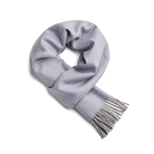 Alpaka Scarf 100% 30x200cm 極致魚骨紋系列 素面單色 羊駝毛 超輕量 圍巾 - 2019 秋冬仕樣(藍色迷情)