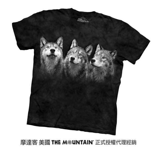 【摩達客】(預購) 美國進口The Mountain 三隻狼 純棉環保短袖T恤(10416045021a)