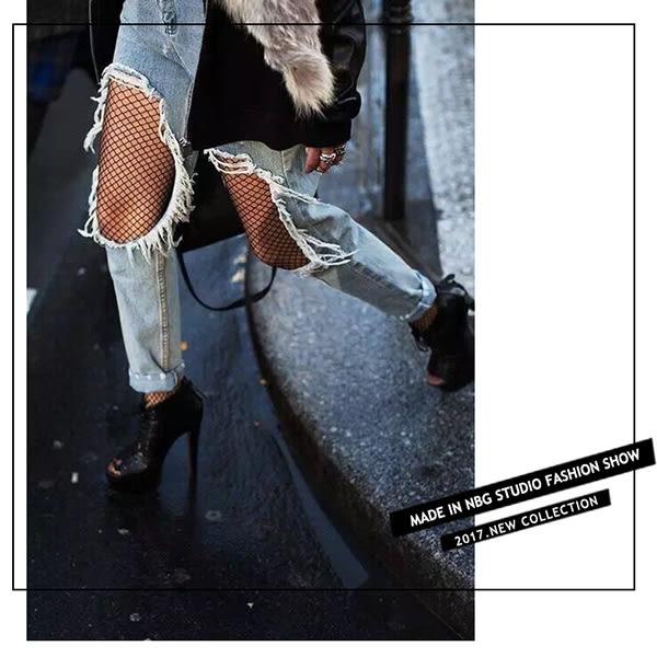 襪子 性感鏤空防勾絲網格褲襪 大網格/中網格/小網格  【FSW104】123ok