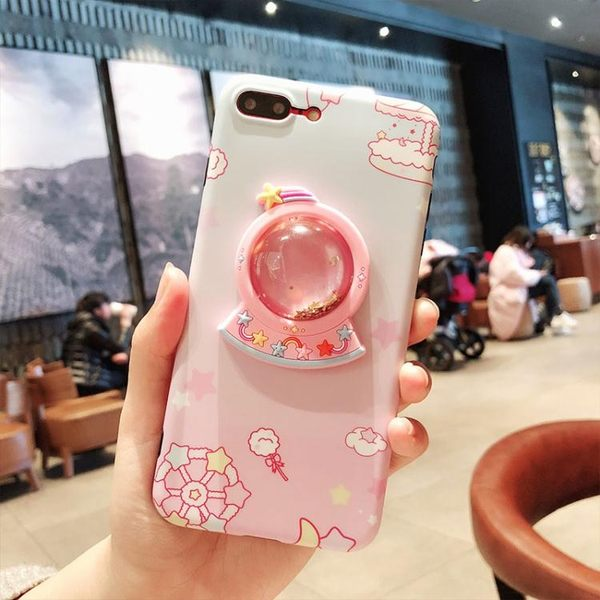 蘋果x獨角獸手機殼6s軟硅膠iPhone7plus防摔外殼i8P少女流沙  居家物語