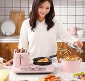 DL-3405烤面包機家用早餐機多功能三合一小型多士爐吐司烤機 科炫數位