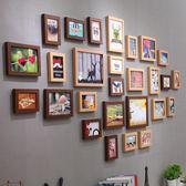 全館免運八折促銷-景宇 北歐簡約裝飾客廳照片墻 相框墻創意歐式相框掛墻組合相片墻jy