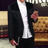 新款小西服中年男士商務休閒西服單件上衣青年韓版男便西裝外套 【販衣小築】