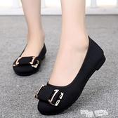 老北京布鞋女2021春季新款時尚單鞋平底軟底防滑豆豆鞋上班工作鞋 夏季新品
