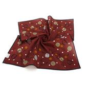 Christian Dior 普普風可愛小圓點領帕巾(咖啡紅) 989036-19