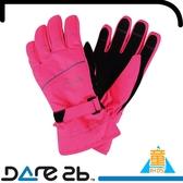 【Dare 2b 英國 童 海瑟 反光防水透氣保暖手套《粉》】DGG306/兒童手套/滑雪/登山/賞雪/戶外