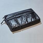 杜邦紙筆電包-13吋休閒輕盈褶皺女手拿包2色73ym3【巴黎精品】