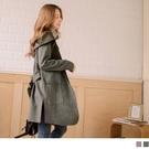 《EA2891》麂皮短絨毛質感純色腰綁帶...