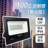 led投射燈廠家 2018年 新發表 100W散光型投光燈(白光) 戶外防水 廣告燈 招牌燈 探照燈