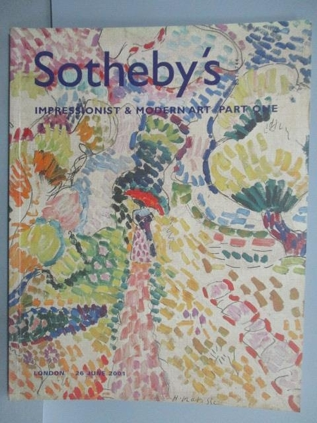 【書寶二手書T8/收藏_FL1】Sotheby s_Impressionist and Modern Art Part 1_2001/6/26