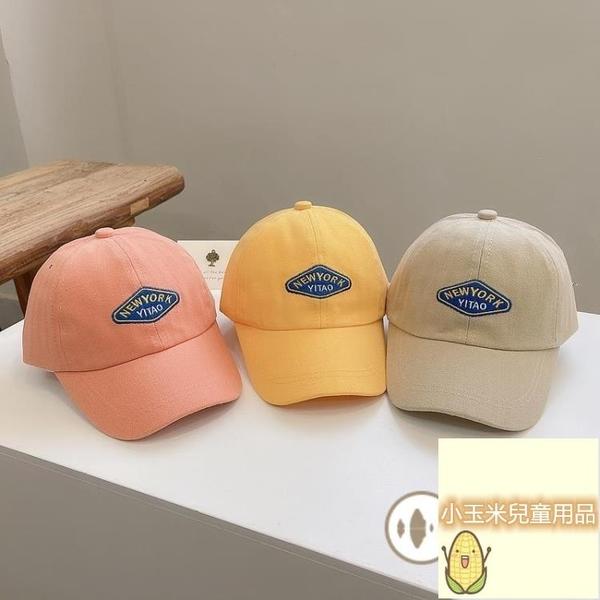 男童遮陽帽子夏天兒童棒球帽潮寶寶鴨舌帽女童百搭刺繡