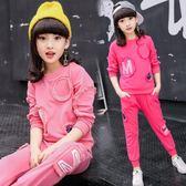 運動套裝女日韓休閒套裝長袖女孩兩件式 新主流