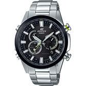 CASIO 卡西歐 EDIFICE 太陽能電波賽車錶-黑圈 EQW-T640YDB-1A / EQW-T640YDB-1ADR