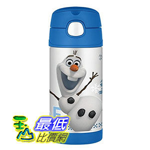 [美國直購] Thermos 兒童保溫水壺 12 Ounce Funtainer Bottle, Olaf F4015FZO6