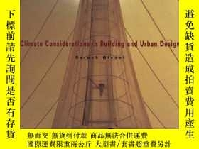 二手書博民逛書店Climate罕見Considerations In Building And Urban DesignY25
