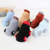 小汽車珊瑚絨學步止滑短襪 童襪 止滑襪 造型童襪