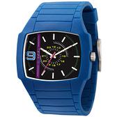 DIESEL 自我色彩個性時尚腕錶(藍)