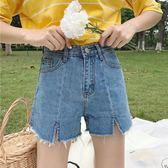 學院風復古女裝韓版春夏學生百搭高腰牛仔短褲 JD149 【男人與流行】