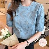 夏裝2021年新款夏季時尚高端氣質襯衣短袖雪紡襯衫【大碼百分百】