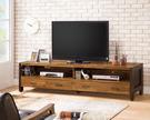 【森可家居】巴菲特6.5尺電視櫃 7ZX388-2 長櫃 雙色 木紋質感 工業風