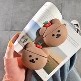 ins櫻桃小熊耳機套適用AirPods蘋果12代卡通保護套個性創意女軟