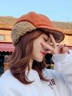 網紅日系復古海軍帽子女韓國ins英倫八角貝雷帽加絨保暖學生鴨舌  快速出貨
