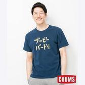 CHUMS 日本 男 Katakana 短袖T恤 深藍 CH011327N001