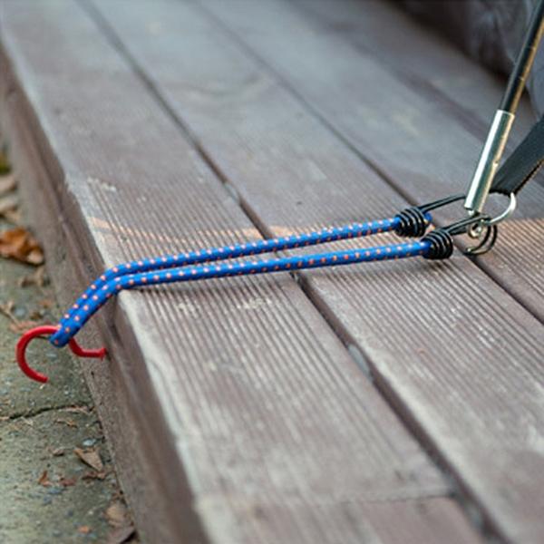 泰博思 戶外彈力繩掛勾 綑綁繩 彈力拉繩 雙鉤繩 牛筋繩 (單入)【H050-T】