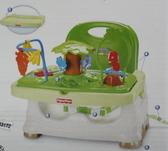 叢林動物餐椅 費雪兒童餐椅 寶寶小餐椅 可攜式餐椅 (外盒壓傷破損)全新品-超級BABY