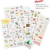 【03369】 韓國小豬日記 透明裝飾 卡通貼紙 1組6入