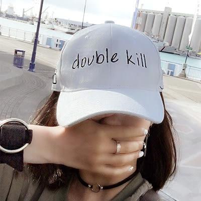 鴨舌帽 韓國潮牌 kill字母嘻哈帽 男女 (2色)【Ann梨花安】