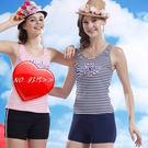 ☆小薇的店☆泳之美品牌【深藍條紋款】時尚二件式泳裝特價690元NO.8315(S-XL)