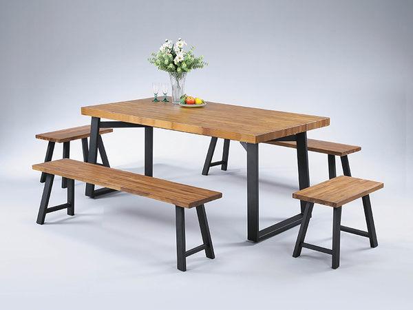 【森可家居】喬登正柚木實木2尺工業風板椅凳 7SB344-3