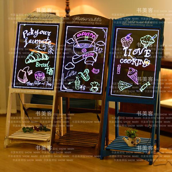 LED熒光板led電子熒光板廣告板發光小黑板廣告牌展示牌銀光閃光屏手寫字板 滿498元88折立殺