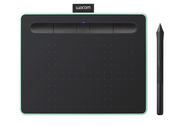 【意念數位館】2018新一代創意版 Wacom Intuos Comfort Small 繪圖板 (藍芽版)(綠)CTL-4100WL/E0