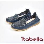 ★2017秋冬新品★itabella.拼接爆裂紋休閒鞋(7569-50藍)