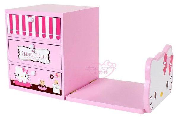 小花花日本精品♥凱蒂貓粉色甜點圖案造型臉型書架置物盒木製櫃書架置物櫃/收納櫃12050802