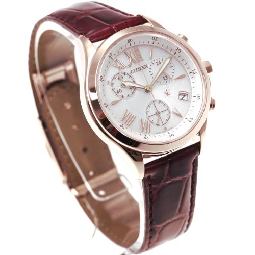 免運費 日本正規貨 公民 XC 計時碼表 太陽能手錶 女士手錶 FB1405-07A