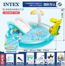 INTEX嬰兒童充氣游泳池家庭大號海洋球池沙池家用寶寶噴水戲水池 NMS創意新品